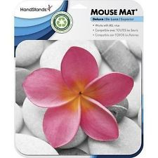 HandStands Deluxe Pink Petals Print Flower Mouse Pad *BRAND NEW*