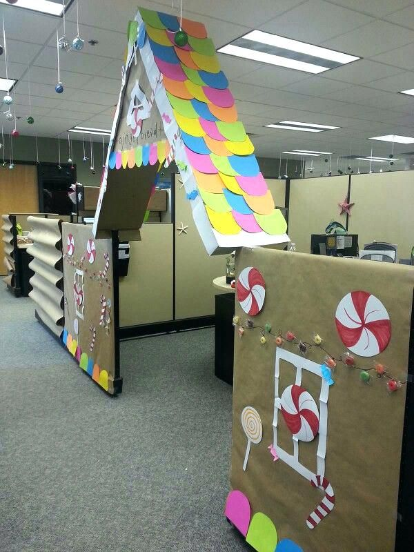 Cubicle Christmas Decorations Gingerbread House Simple Office Decorations For Christmas Office Cubicle Decorations For Christmas Diy Office Decorations For Christmas #cubiclechristmasdecorations