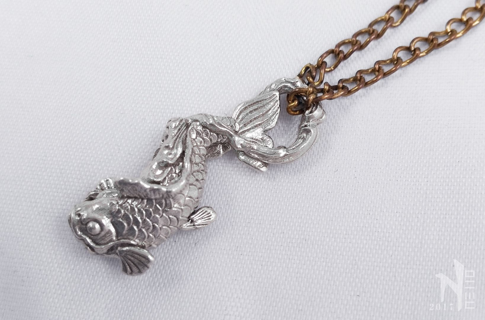 silver fish il necklace party the pendant listing under koi sea