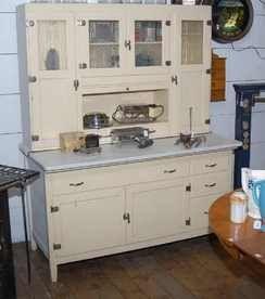 Hoosier Cabinets for Sale | Cabinet; Hoosier Style, Oak, White Paint ...