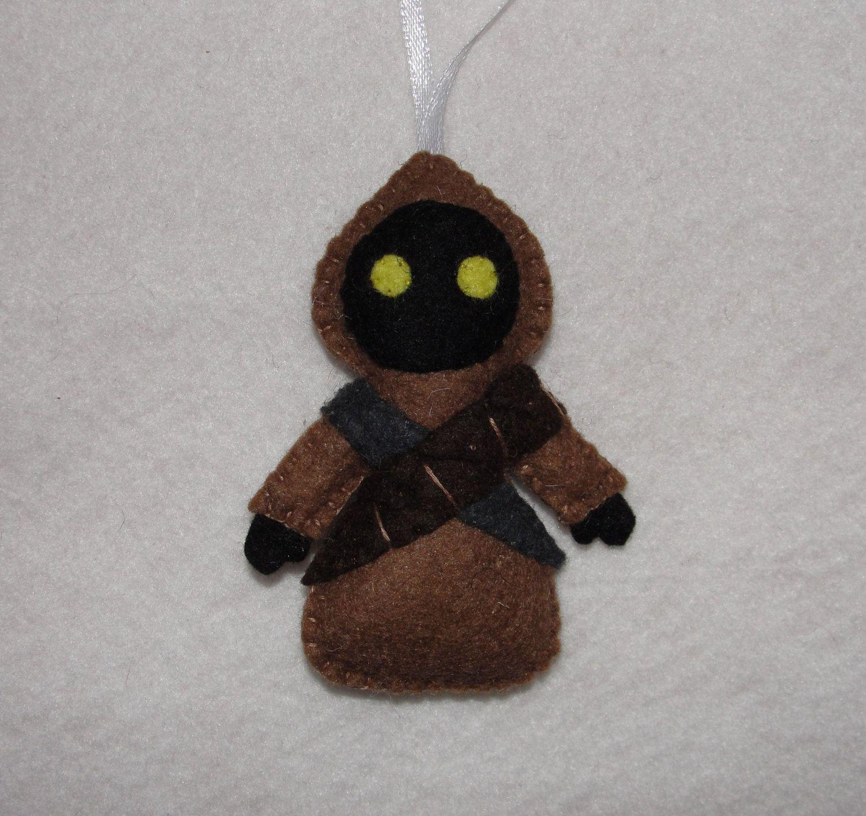 Wool Felt Jawa Ornament Felt Star Wars Ornament Jawa Etsy Felt Ornaments Felt Crafts Ornaments