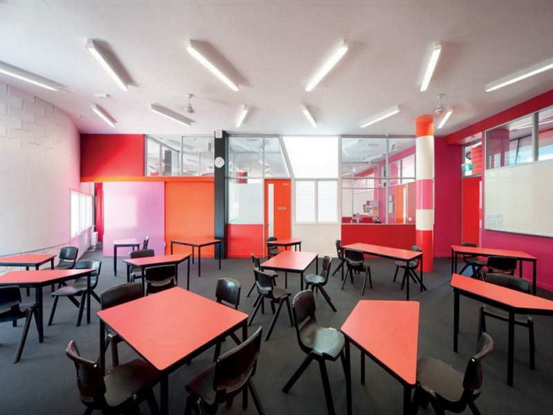 Modern Classroom Decor : High school classroom design ideas with modern style