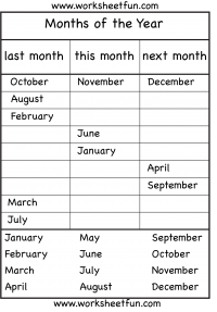 months of the year worksheet | Education | Pinterest | Worksheets ...