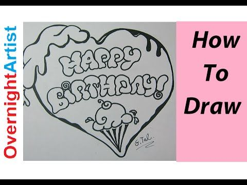 Write Happy Birthday Bubble Letters Ice Cream Heart Happy Birthday In Cursive Happy Birthday Calligraphy Happy Birthday Hearts
