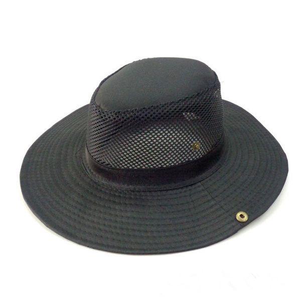 ee3a5b72a21 Men Women Bucket Hat Boonie Hunting Fishing Outdoor Cap Wide Brim Military  Mesh Sun Hat
