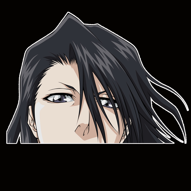 Peeker Anime Peeking Sticker Car Window Decals Pk171 Bleach Byakuya Kuchiki Car Stickers Car Window Decals Anime [ 1500 x 1500 Pixel ]