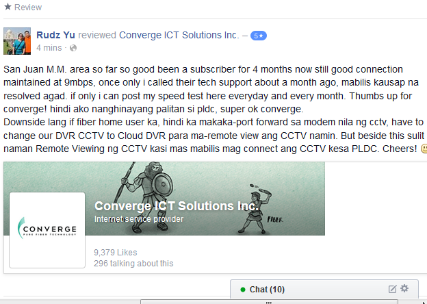 Heartwarming review from Converge ICT's Customer. (Posted