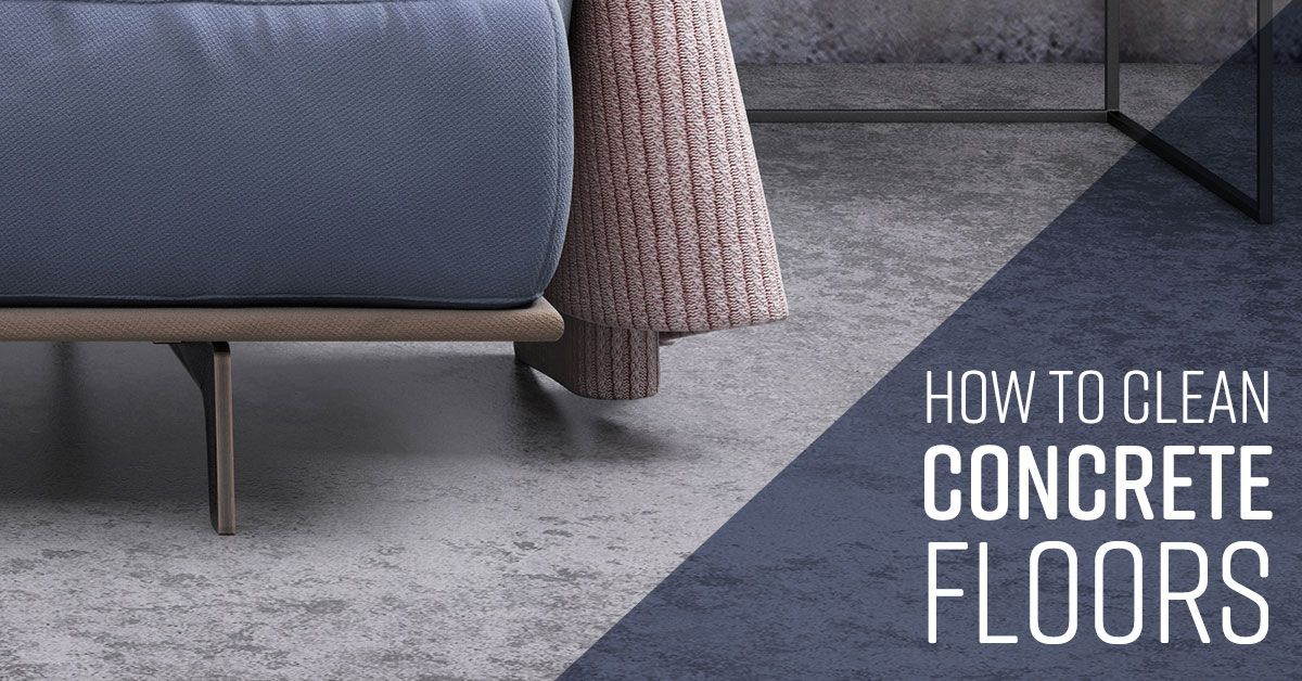 How to clean concrete floors with images clean