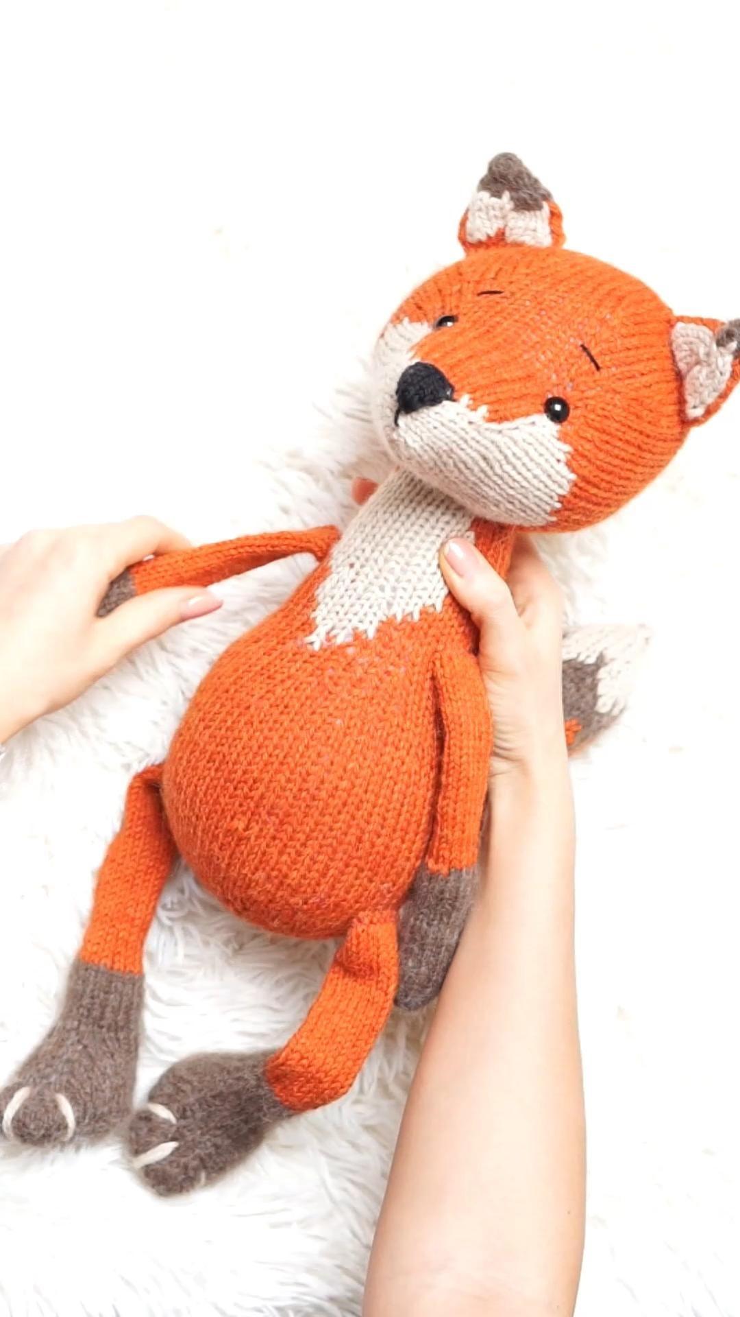 Photo of Strickspielzeugmuster – Fox Toy von Polushkabunny #knitting #pattern #fox #doll #toy #diy #stuffed