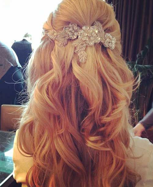 15 Latest Half Up Half Down Wedding Hairstyles For Trendy: Half Up Half Down Wedding Hair With Veil