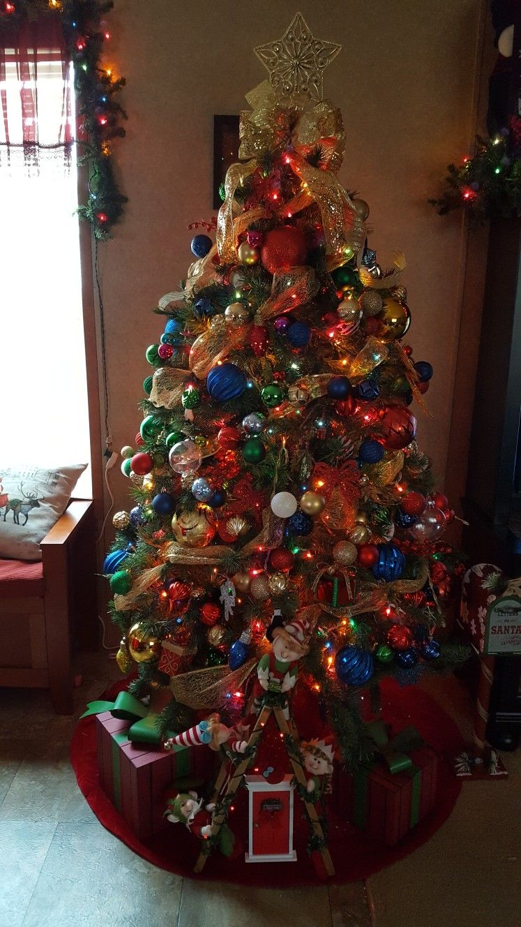 This year's colorful Christmas tree!