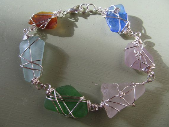 Sea Glass Bracelet by RockyCoastOfMaine on Etsy, $65.00