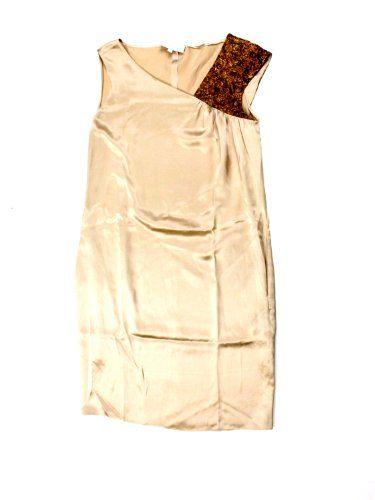 Nellie Partow Womens Sienna Embroidered Shoulder Silk Dress