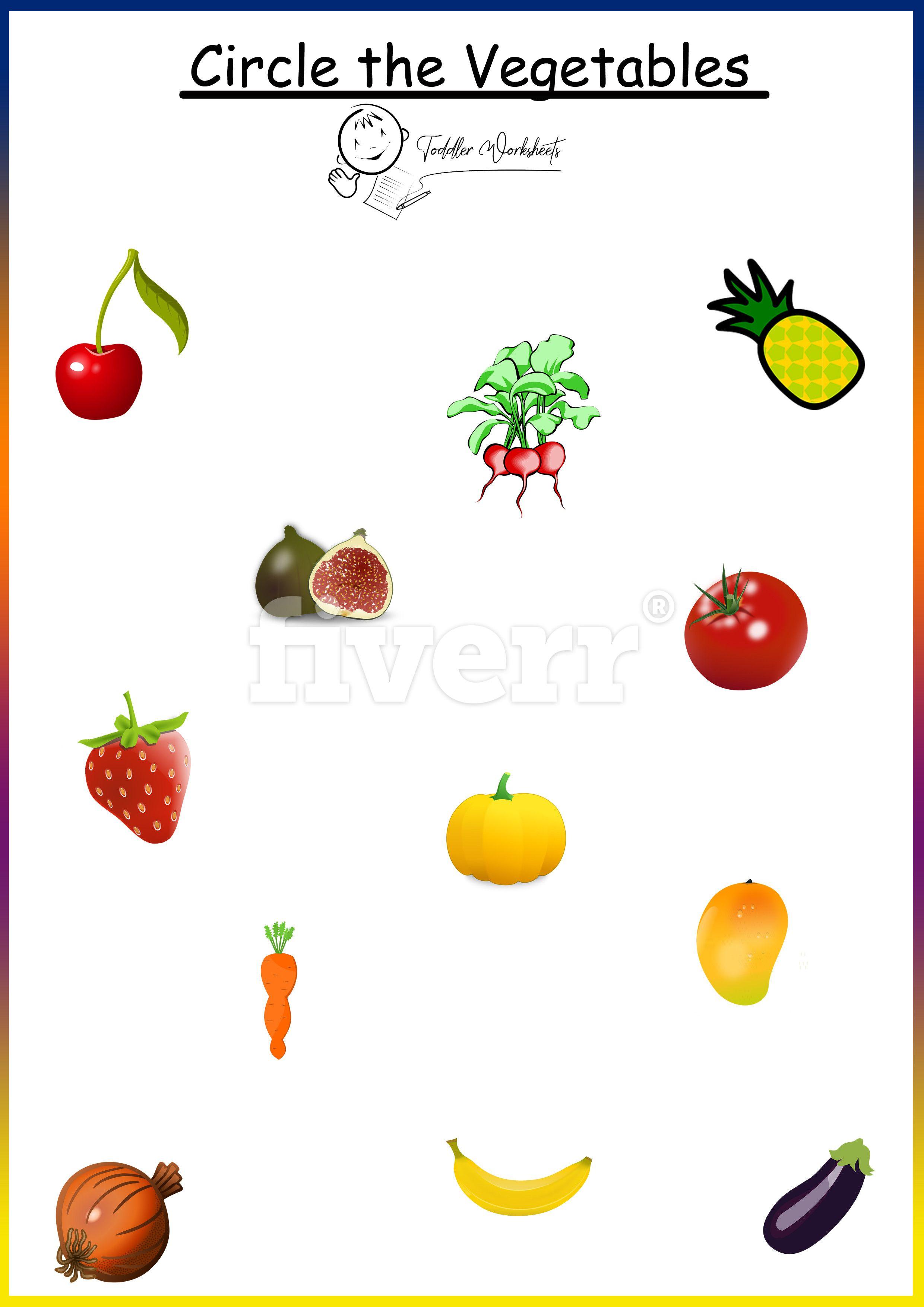 Preschool Free Worksheets Vegetables