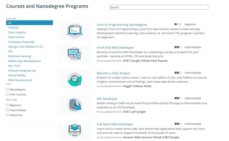 udacity catalog   Course platform   Catalog, Shopping, Platform