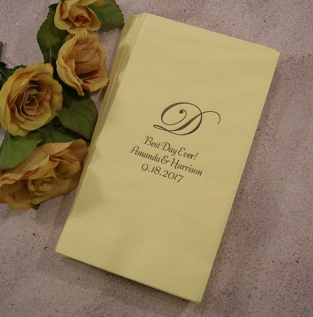 Personalized Guest Towels Monogram Wedding Set Of 50