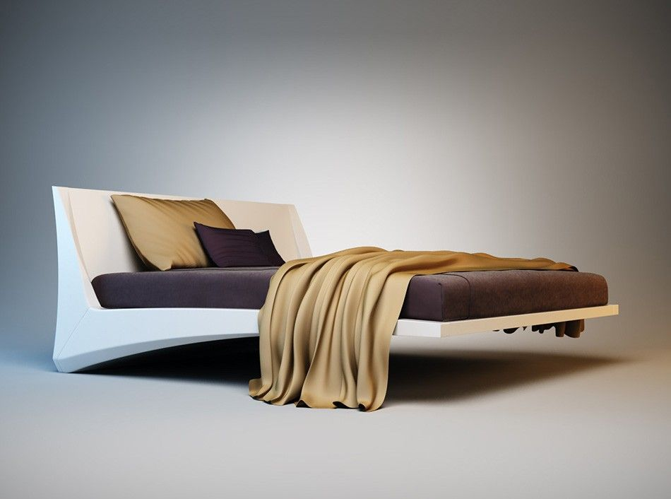 Dylan floating bed by cattelan italia 4 beds for Modern floating bed