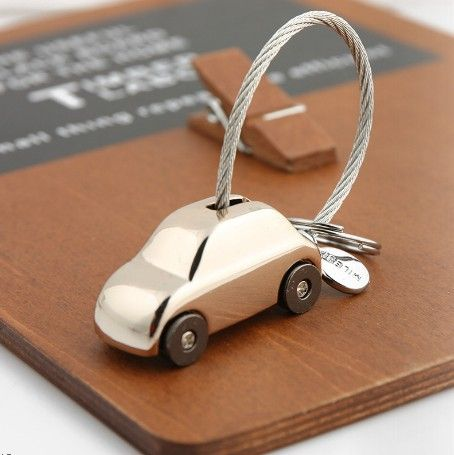 Black Silver And Rose Gold Plating Luxury Car Model Keychain Car Key