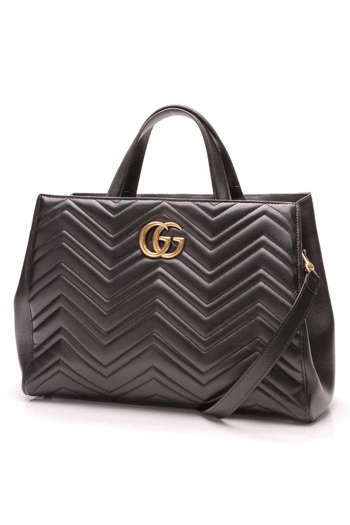 754d81f970b9 Medium Marmont Matelasse Top Handle Bag - Leather in 2019   Gucci ...