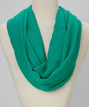 Another great find on #zulily! Torino Scarf Collection Kelly Green Infinity Scarf by Torino Scarf Collection #zulilyfinds