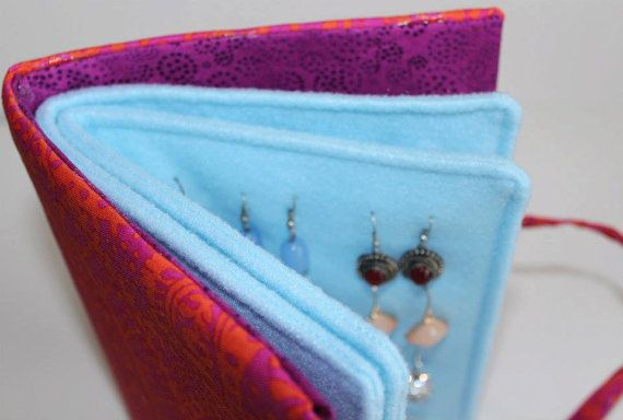 Travel Earrings Book Jewelry Case Earring Organiser Display