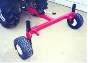 Compact 3-point hitch adapter to use on ATVs and other small garden