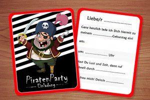 Die Piraten Kindergeburtstag Einladung Piraten Geburtstag