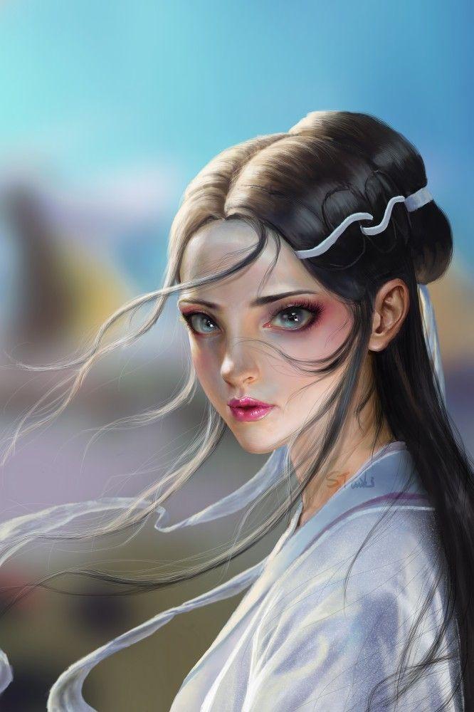 ArtStation - Blanca, S Taiki | ภาพวาดบุคคล, สาวอนิเมะ, คาวาอี