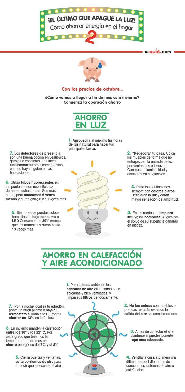 Como Ahorrar Energia En El Hogar 2 Infografia Infographic Medioambiente Tics Y Formacion Ahorro De Energia Tips Para Ahorrar Energia Formas De Ahorrar Energia