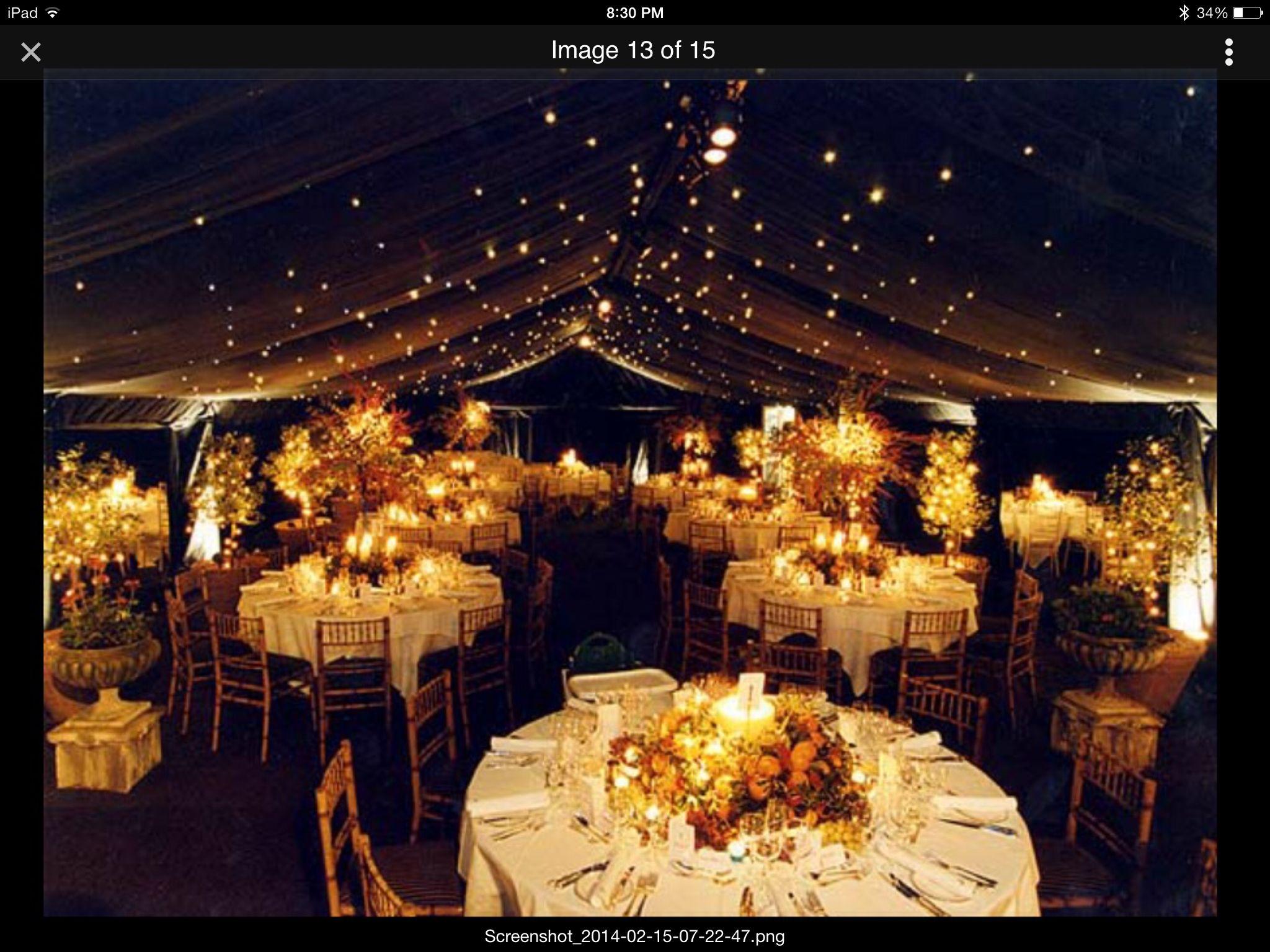 Outdoor wedding at night   Wedding themes
