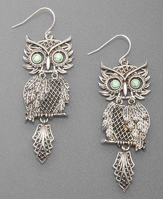 Lucky Brand Earrings Silvertone Shaky Owl Totally Looks Like A Pendent I Had When Was Little