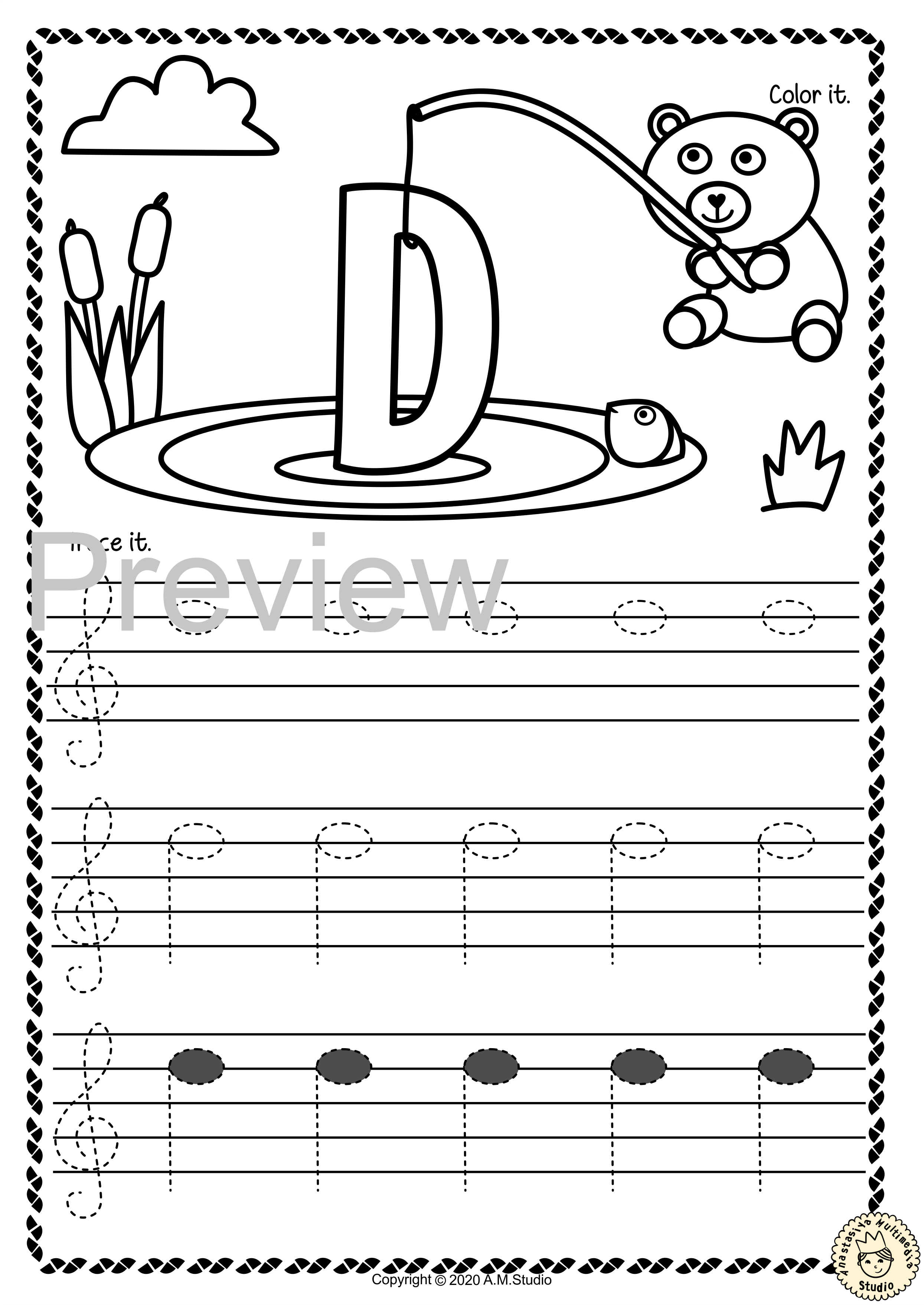 Treble Clef Tracing Music Notes Worksheets For Summer