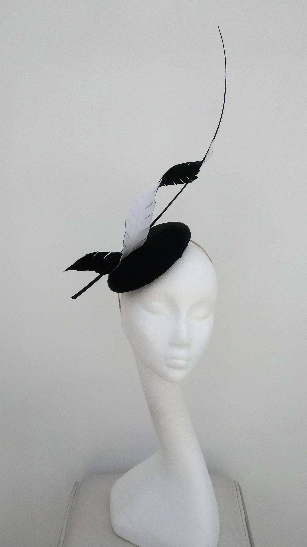 7caa2528f87  blackandwhitefascinator  hat  fascinator  hatinator  weddinghat