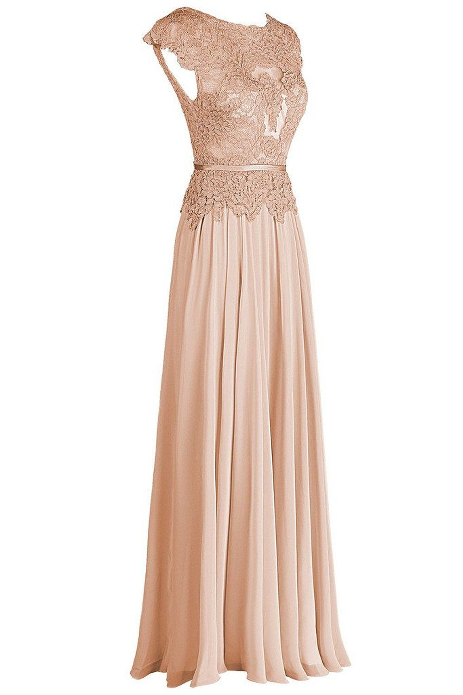 Dresstail womenus long chiffon bridesmaid dress lace prom evening