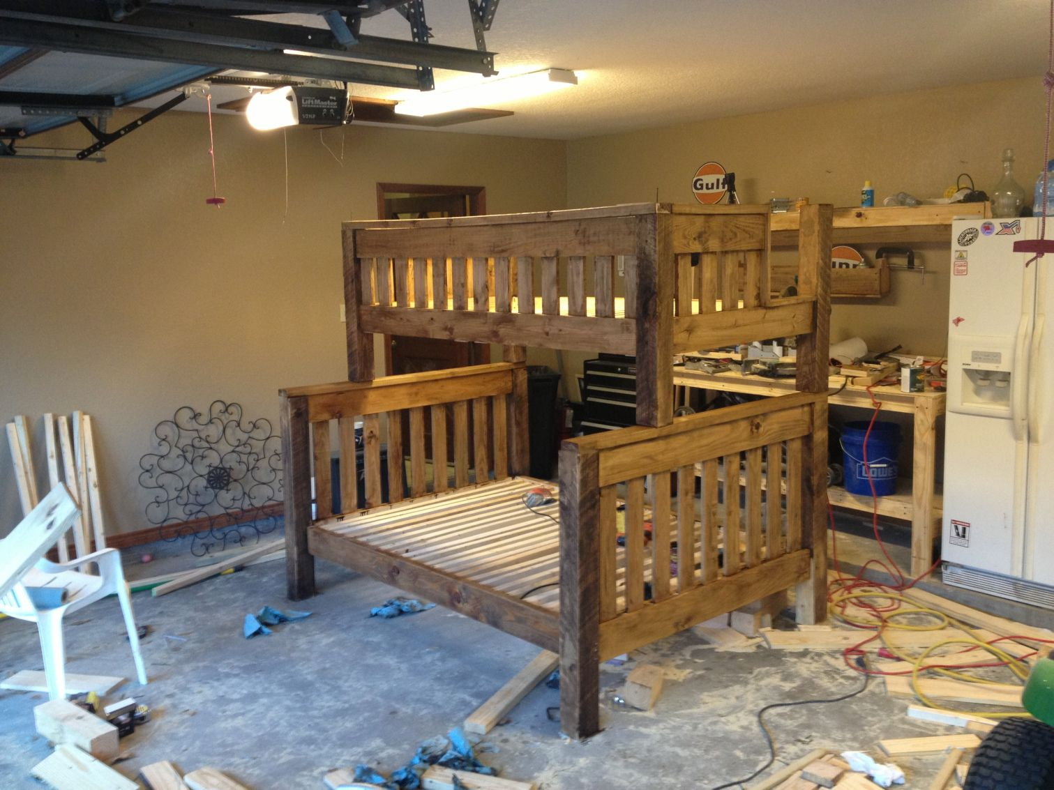 Diy Twin Over Full Bunk Bed Popular Interior Paint Colors Check