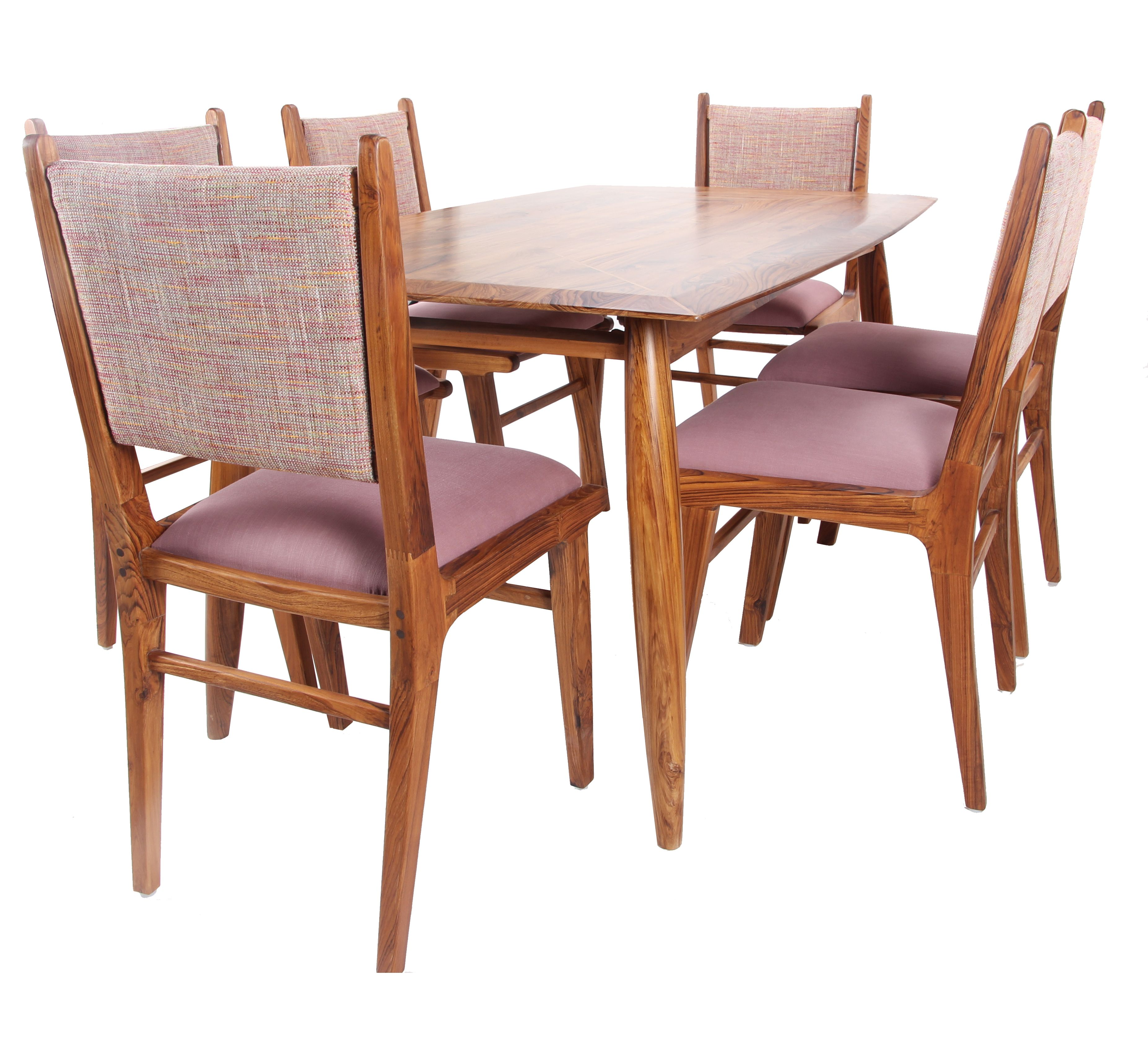 Another six seated dining set with upholstered chairs Entire