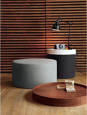 Puff Drum de marca dinamarqueas Softline - inspire se www.scandinavia-designs.com.br