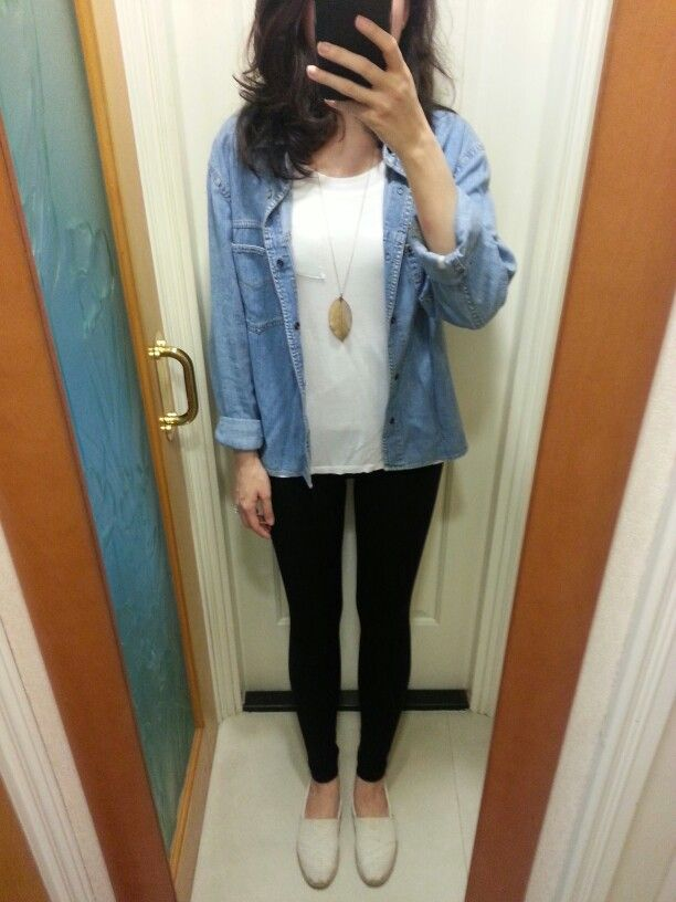 Esprit Chambrey H M T Shirt And Leggings Accessorize Necklace Toms