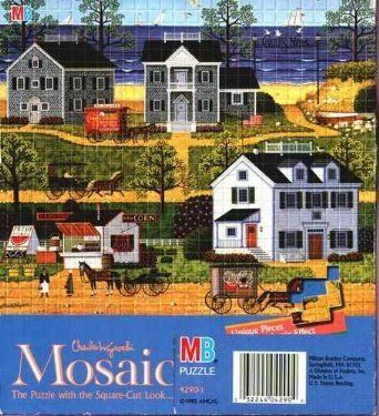 One of Charles Wysocki's mosaic puzzle's - Gull's Nest. Perfect for a winter day, or a day off from the beach and inside the AC! #CharlesWysocki #MosaicPuzzle #GullsNest #Amazon #UnderTheRoofTreasures