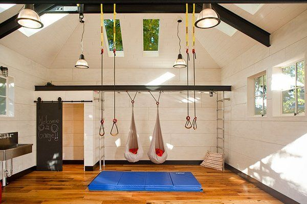 Superbe Unique Garage Conversion Ideas Playground Sports Kids Gym Ideas
