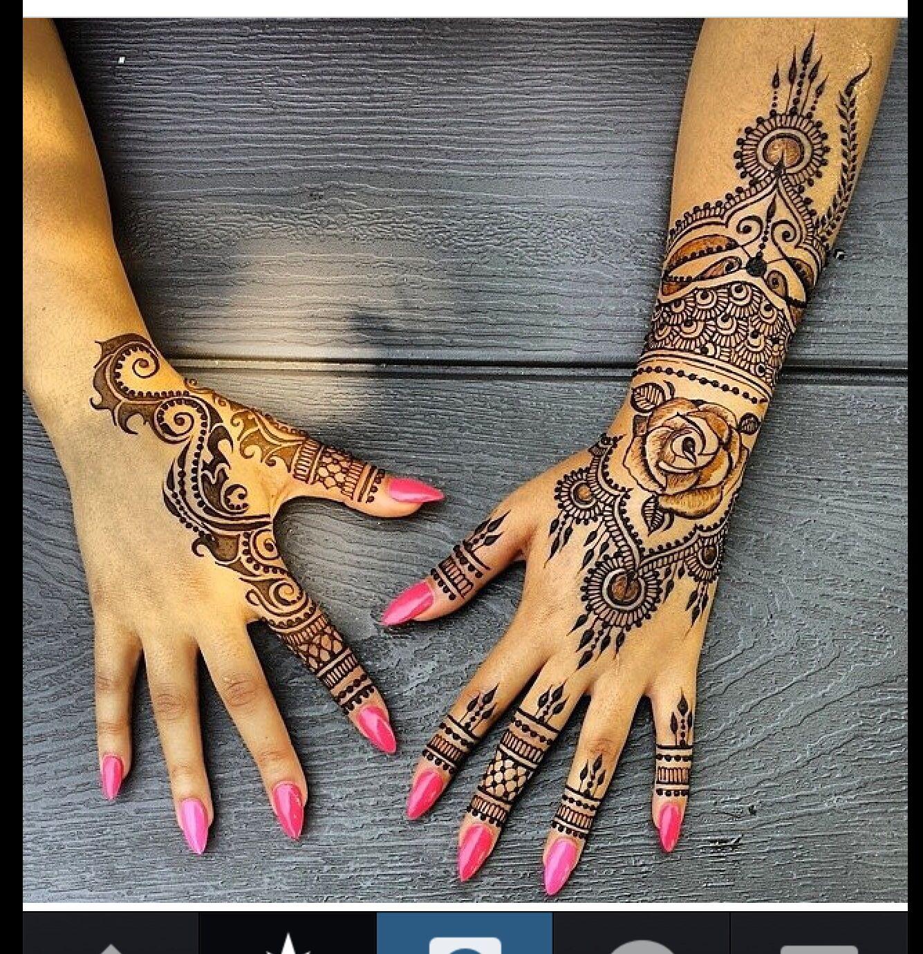 Real Henna Henna Tattoo Designs Hand Henna Henna Patterns Hand