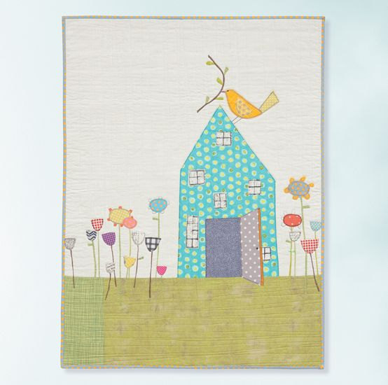 """The Birdhouse Quilt"""" • Carrie Bloomston 