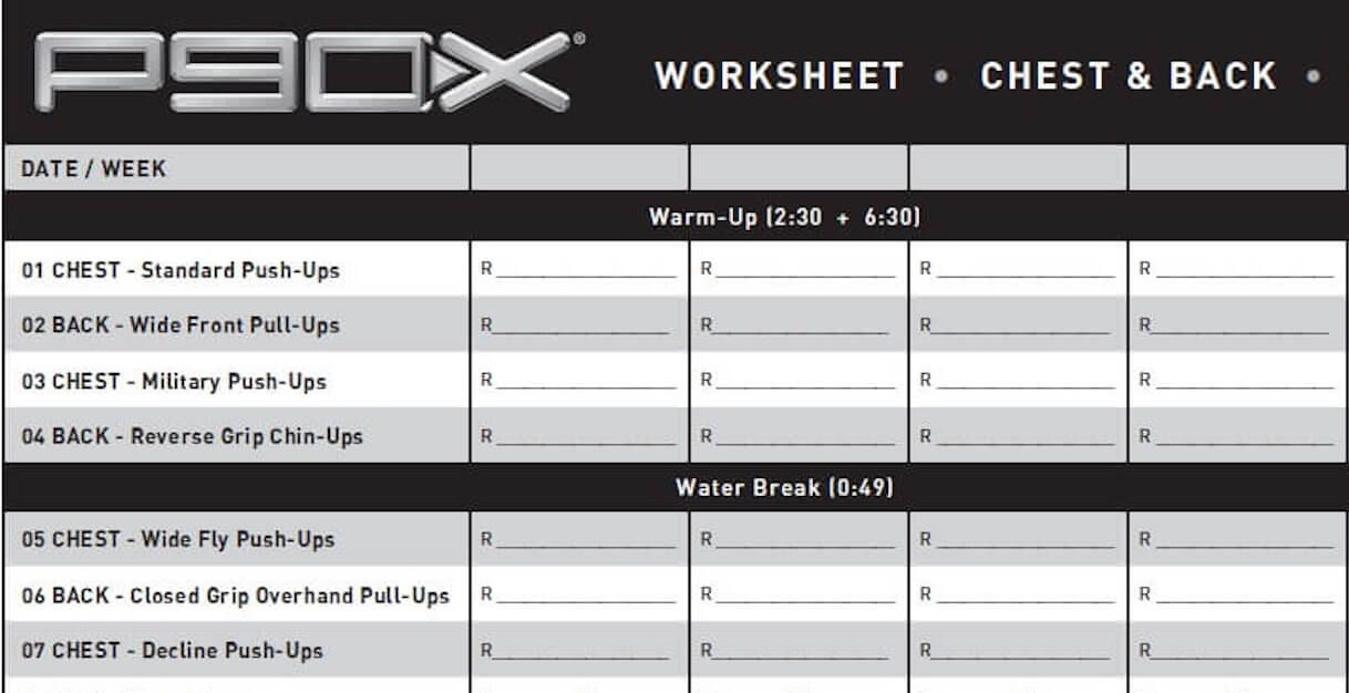 download p90x workout sheets here visit this page to get access to all 7 p90x
