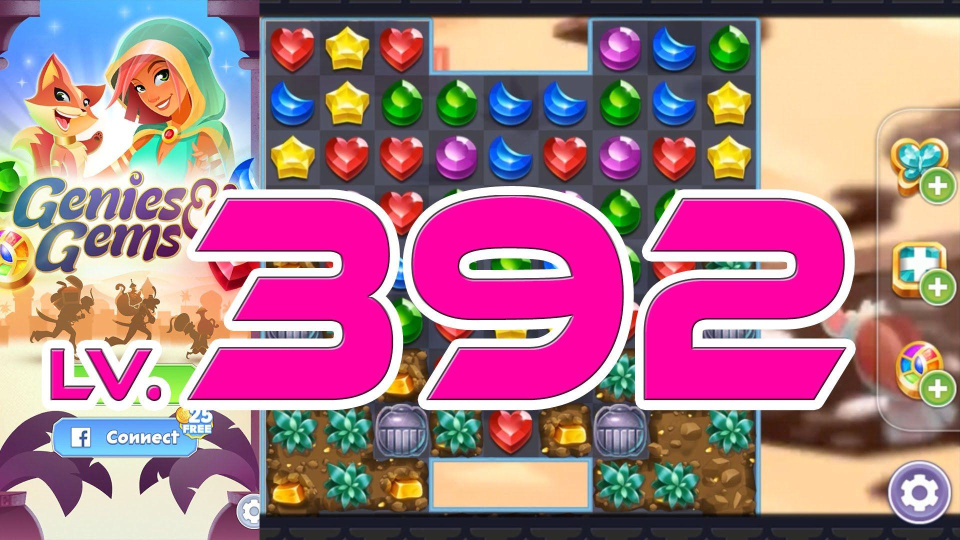 Genies & Gems - Level 392 (1080p/60fps) | Genies & Gems