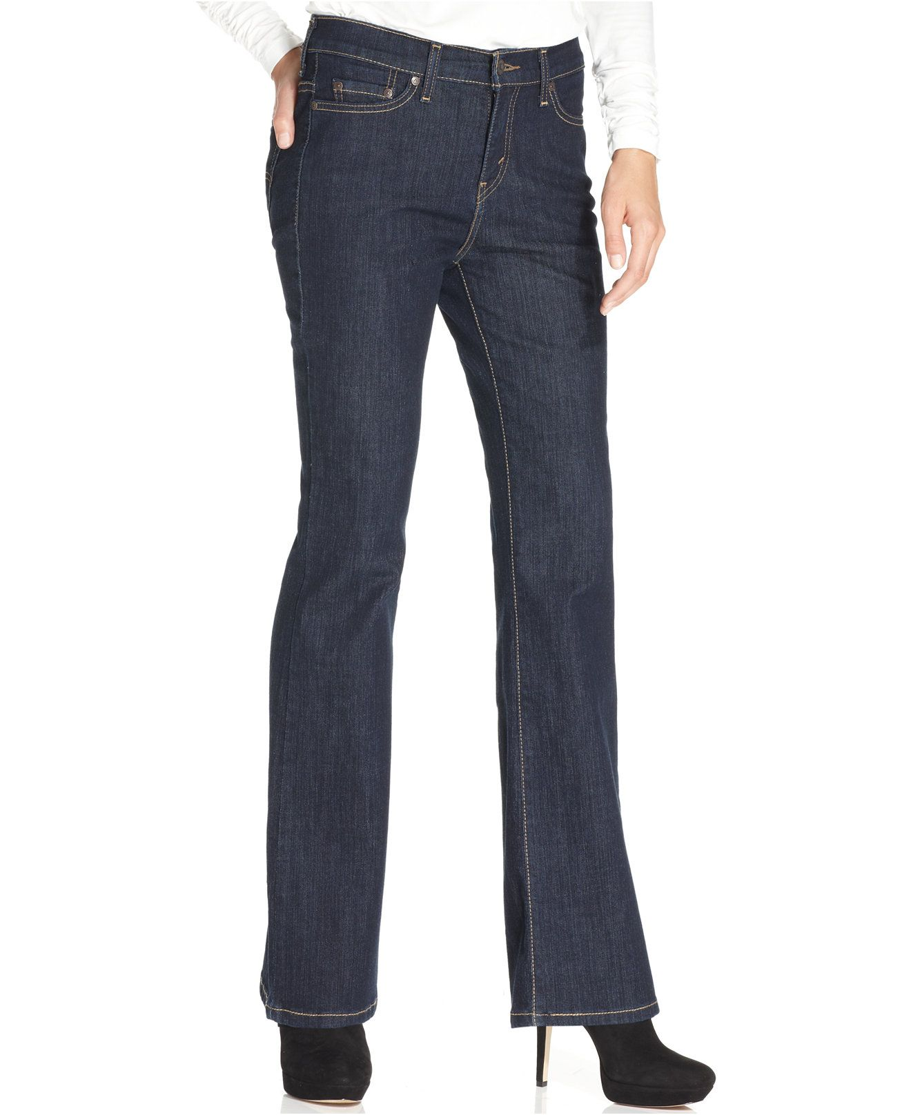 76a3a3f6 Levi's 512 Perfectly Slimming Bootcut Jeans, Indigo Rinse Wash - Jeans -  Women - Macy's