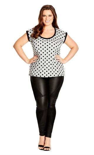 28fd7d749ad City Chic FLOCKED SPOT TOP- City Chic Your Leading Plus Size Fashion  Destination  citychic  citychiconline  newarrivals  plussize  plusfashion