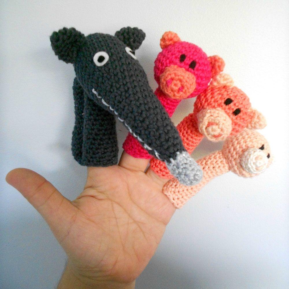 Trois petits cochons | Titelles de dit o llapis | Pinterest | Patrón ...
