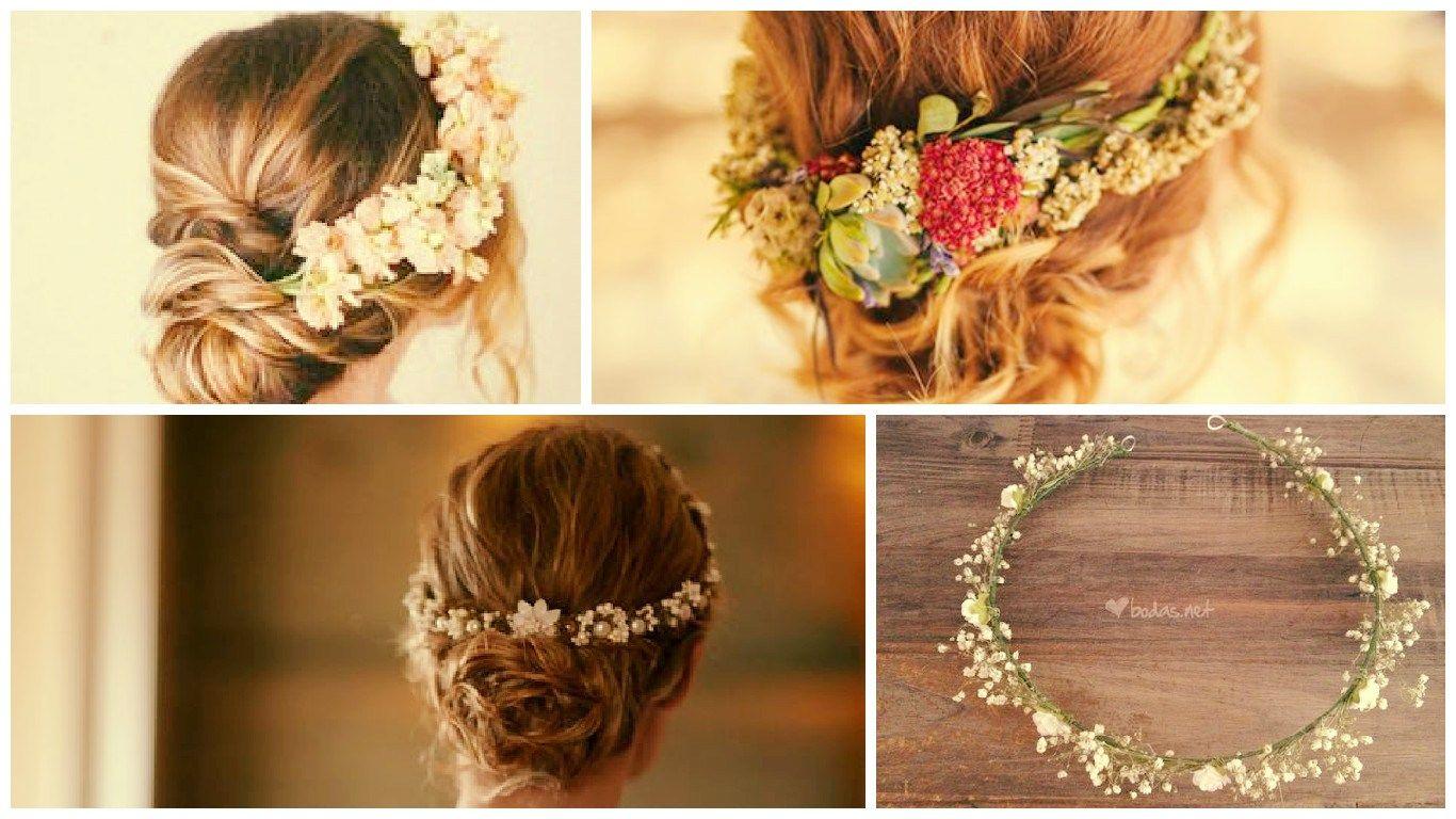 Las flores en el pelo han sido siempre sinónimo de romanticismo y feminidad, y si las llevamos al campo de las novias el efecto se multiplica hasta el infi