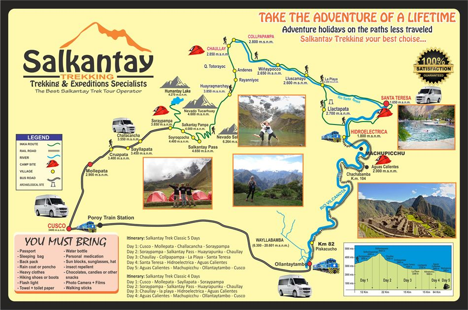 Salkantay trekking Trip Map | Peru Travel Inspiration ... on appalacian trail map, inca trail map, santa cruz trail map, mountain trail map, machu picchu trail map, huayna picchu trail map, tuckerman ravine trail map, fat man's pass trail map,