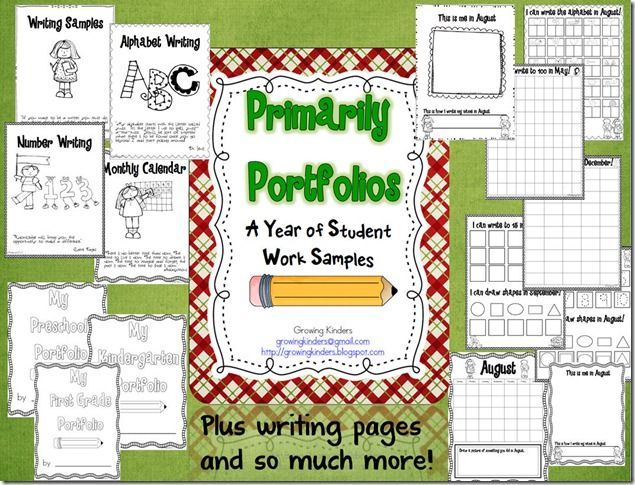 Cute writing Portfolio ideas for Early Childhood students!
